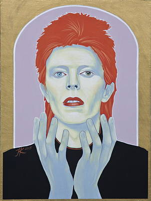 Painting - David Bowie by Jovana Kolic