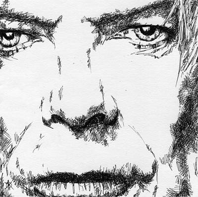 Ziggy Stardust Drawing - David Bowie by KM Paintings