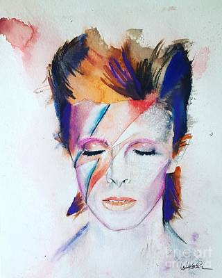 David Bowie Wall Art - Painting - David Bowie by Leah Katherine