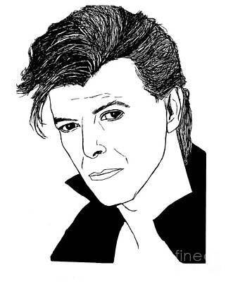 David Bowie Drawing - David Bowie by Lionel B