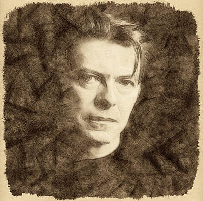 David Bowie Drawing - David Bowie by Little Bunny Sunshine