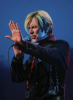Celebrity Wall Art - Painting - David Bowie Live Painting by Paul Meijering