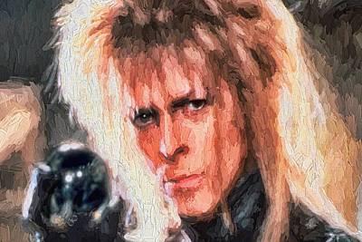 Goblin Digital Art - David Bowie  by Louis Ferreira