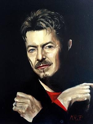 David Bowie Painting - David Bowie  by Marcela Rogel de Pepper
