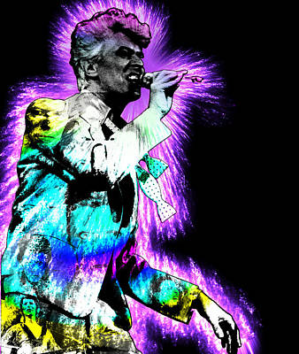 Painting - David Bowie by Michael Lee