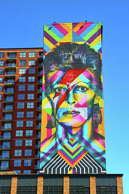 Photograph - David Bowie Mural # 2  by Allen Beatty