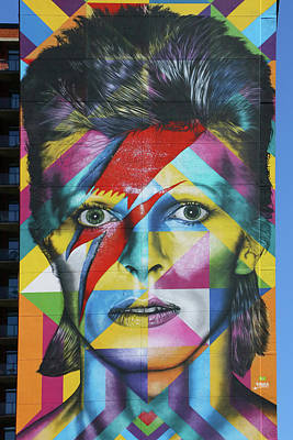 Photograph - David Bowie Mural # 3 by Allen Beatty