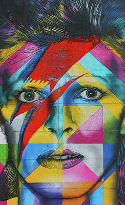 Photograph - David Bowie Mural # 4 by Allen Beatty