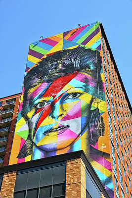 Photograph - David Bowie Mural By Eduardo Kobra by Allen Beatty