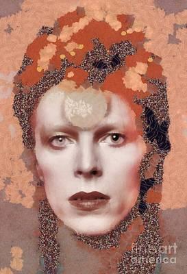 John Wayne Digital Art - David Bowie, Music Legend by Mary Bassett