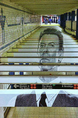 Photograph - David Bowie N Y C Subway Tribute # 2 by Allen Beatty