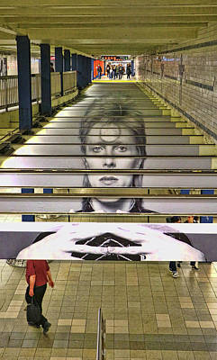 Photograph - David Bowie N Y C Subway Tribute # 3 by Allen Beatty