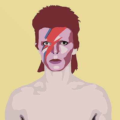 Retro Digital Art - David Bowie by Nicole Wilson