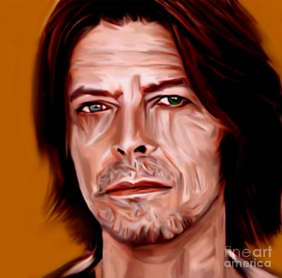 My Name Is David Bowie Orange By Felix Von Altersheim Original