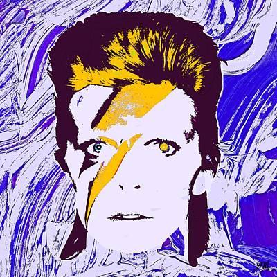 Pop Digital Art - David Bowie Panel Two by Linda Mears
