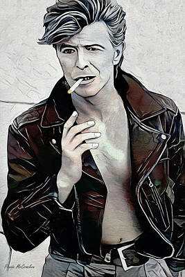 Digital Art - David Bowie by Pennie McCracken