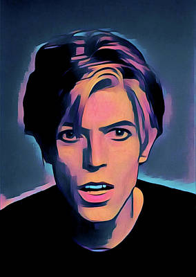 Painting - David Bowie Portrait by Gary Grayson