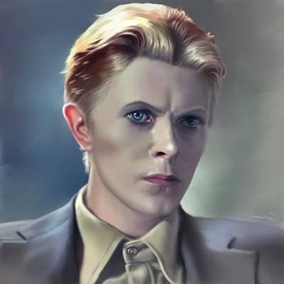 Digital Art - David Bowie Portrait In A Suit by Dana Scholle