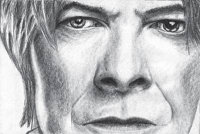 Ziggy Stardust Drawing - David Bowie Portrait by Raluca Barsan
