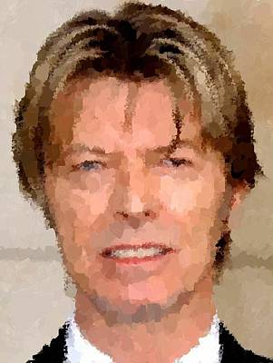Painting - David Bowie Portrait by Samuel Majcen