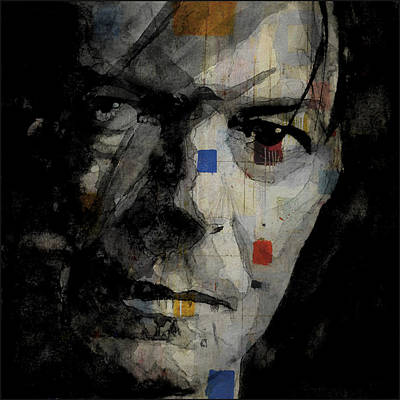 Legend Mixed Media - David Bowie Retro  by Paul Lovering