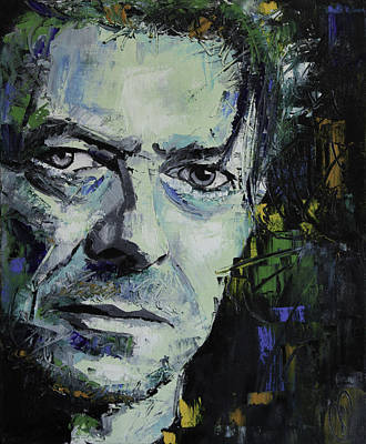 Abstract Portrait Painting - David Bowie by Richard Day
