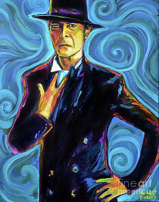 Painting - David Bowie by Robert Phelps