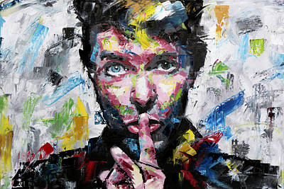 Painting - David Bowie Shh by Richard Day