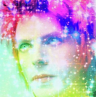 Digital Art - David Bowie / Starman by Elizabeth McTaggart