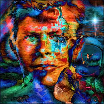 David Bowie - The Visionary Of The Future Art Print by Daniel Arrhakis