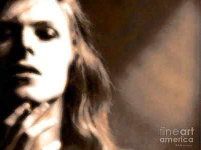 Digital Art - David Bowie / Through The Dream State Softly  by Elizabeth McTaggart