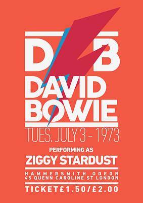 David Bowie Digital Art - David Bowie Ticket by Semih Yurdabak