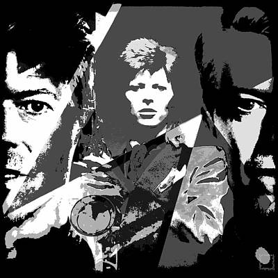 David Bowie Tribute - Black And White Emotions  Original by Daniel Arrhakis