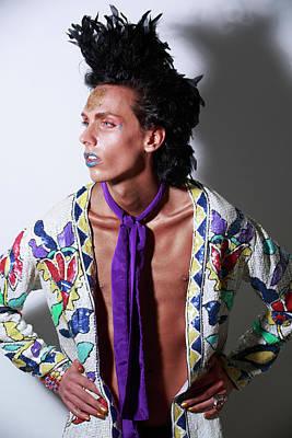 Potraiture Photograph - David Bowie Tribute Petr Nitka Fashion Editorial Magazine Published by Bharathan Kangatheran