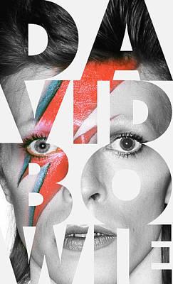 David Bowie Digital Art - David Bowie Typo by Semih Yurdabak