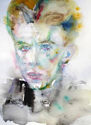 David Bowie Portrait Painting - David Bowie - Watercolor Portrait.10 by Fabrizio Cassetta