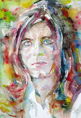 David Bowie - Watercolor Portrait.13 Original