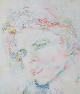 David Bowie Portrait Painting - David Bowie - Watercolor Portrait.8 by Fabrizio Cassetta
