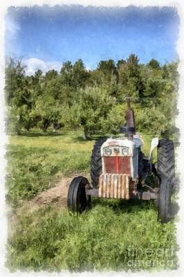 Painting - David Brown Case Vintage Tractor by Edward Fielding