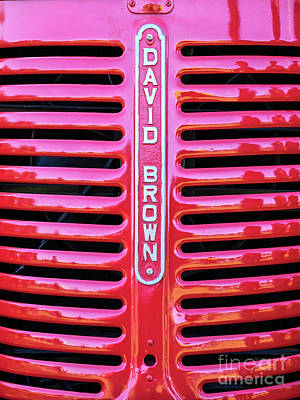 Photograph - David Brown Tractor 01 by Rick Piper Photography