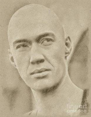 Fantasy Drawings - David Carradine from Kung Fu by Frank Falcon