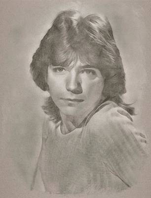 Musicians Drawings Rights Managed Images - David Cassidy by JS Royalty-Free Image by John Springfield