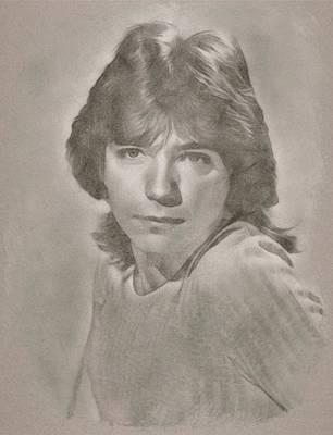 Celebrity Drawing - David Cassidy By Js by John Springfield