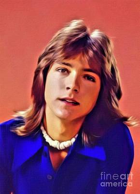 Celebrities Digital Art - David Cassidy, Hollywood Legend. Digital Art by MB by Mary Bassett