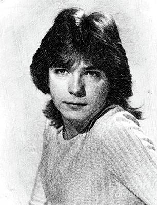 Musicians Drawings - David Cassidy, Vintage Actor by JS by Esoterica Art Agency