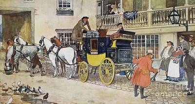 David Copperfield On His Way To School Art Print by MotionAge Designs