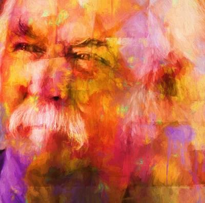 Music Paintings - David Crosby by Dan Sproul