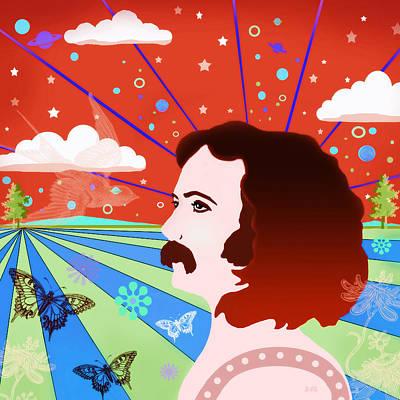 David Crosby Digital Art - David Crosby - Times Long Gone by Little Bunny Sunshine