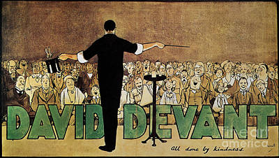 Turn Of The Century Drawing - David Devant Poster C1910 by Granger