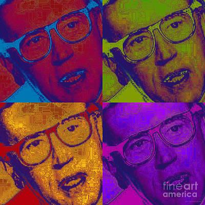 Digital Art - David Frost Pop Art by Jean luc Comperat